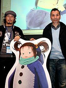りんたろう監督の新作に海外からも熱い注目(左から)寺田克也、りんたろう監督「よなよなペンギン」