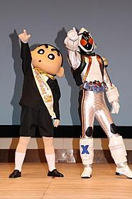 しんちゃんと仮面ライダーフォーゼが夢のタッグ! 「映画クレヨンしんちゃん 嵐を呼ぶ!オラと宇宙のプリンセス」