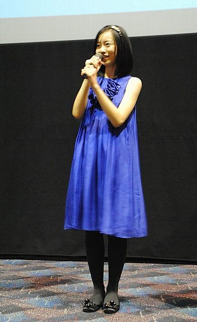 柴田杏花青ドレス