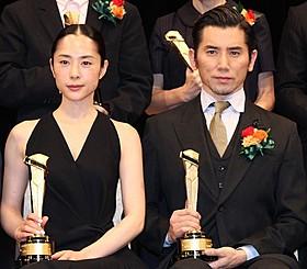 主演女優賞の深津絵里と助演男優賞の本木雅弘「母と暮せば」